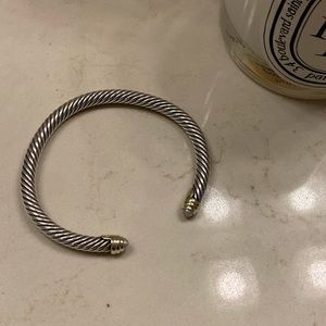 David Yurman Pearl Cable Bracelet
